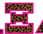 Alpha Xi Delta Sorority Letters Leopard Print Decal Full Color Digital Print Vinyl Sticker