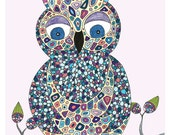 Who's There Owl Personalized Print by Valerie Lorimer