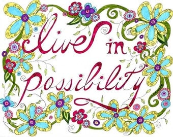 Live in Possibility Note Cards