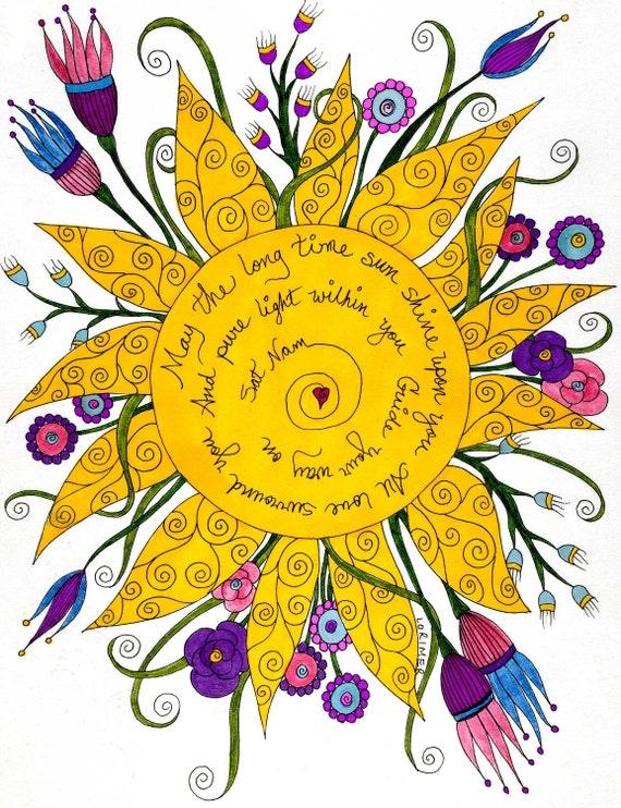 Sat Nam Yoga Note Cards, Yoga, Inspiration, JOurney, Love, Light