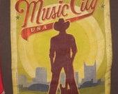 Backpack/Book Bag---Nashville Music City