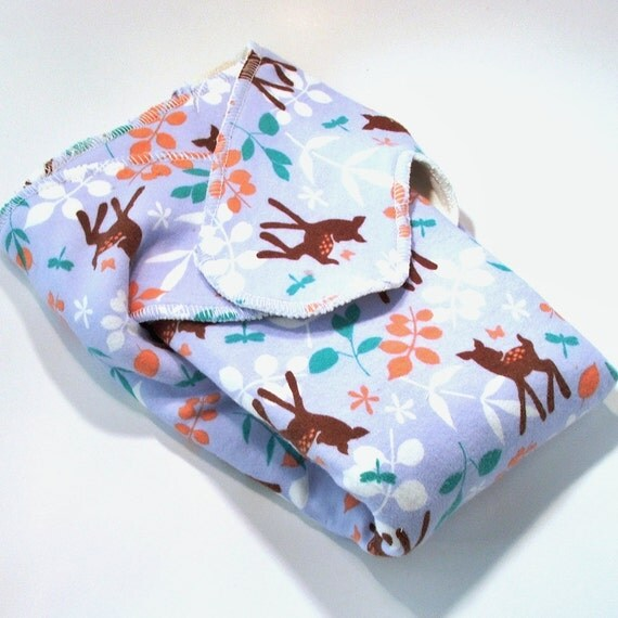 Extended Tab Winged Bamboo Prefold Cloth Diaper - Size ONE - First Spring