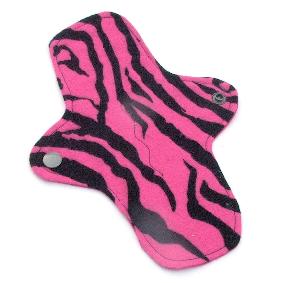 Reusable Cloth ULTRATHIN Pantyliner 8 Inch Mini Pad with wings for Every Day - Pink Tiger