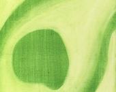 Green Avocado Slice Painting Mod Kitchen Art Print