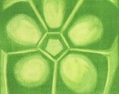 Green Pickled Okra Vegetable Painting Kitchen Art Print