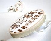 butterfly original art pyrography woodburning painting wall art