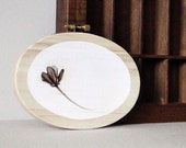 embroidery hoop art original pressed flower woodburning pyrography