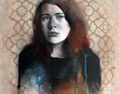 Original Painting Portrait Original Art
