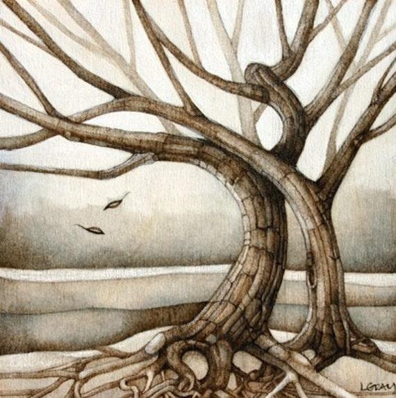 Art Reproduction Tree Print - Companions