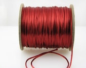 10 yards 2mm Rust Satin Rattail Cord