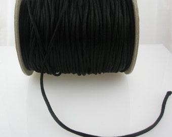 10 Yards 3 mm Black Satin Rattail Cord