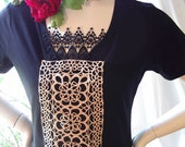 steampunk gothique vintage french lace t shirt top romantic loose fit