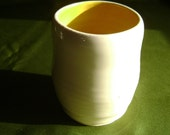 Porcelain Cup in Poppy Yellow