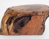 Mesquite Wood Log Lid Box