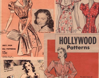 Vintage Pattern Catalog 2 Hollywood Pattern Booklets in One  PDF July 1939  June 1940 -INSTANT DOWNLOAD-