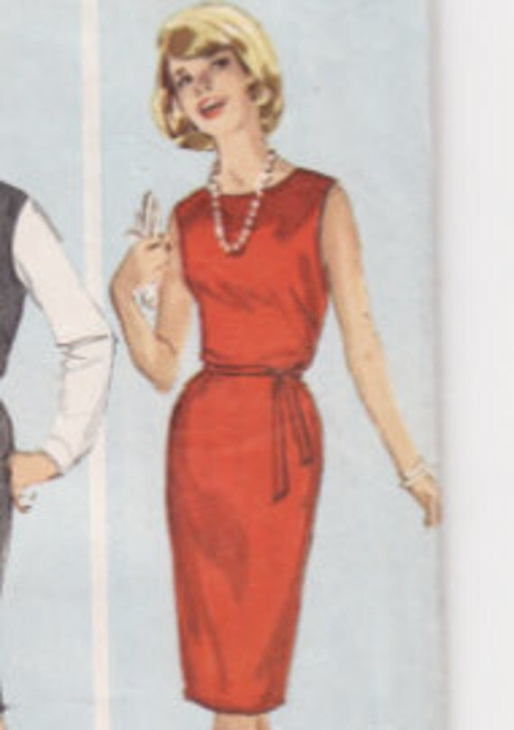 Simplicity 5060 Simple Jumper or Dress Vintage Sewing Pattern 34 Bust