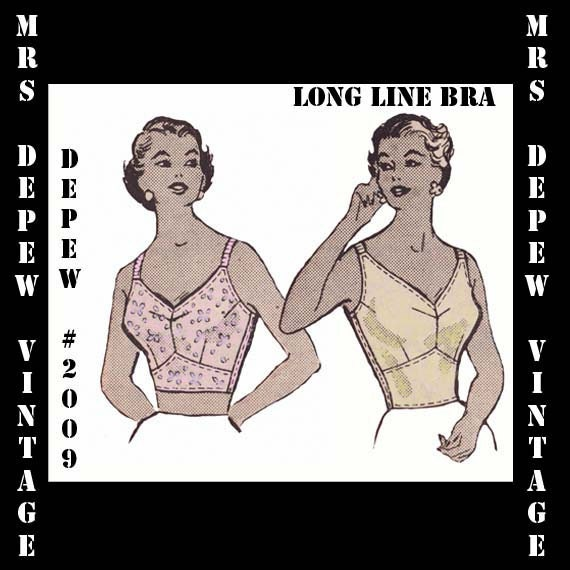 1950s Sewing Patterns | Swing and Wiggle Dresses, Skirts 1950s  Ladies Long Line Full Coverage Bra 42 Bust Depew 2009-INSTANT DOWNLOAD- $7.50 AT vintagedancer.com