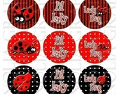 Bottle Cap Images Ladybugs and Sayings 1 inch SALE IN SHOP