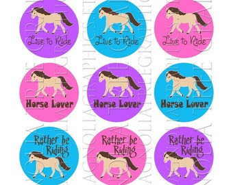 Bottle Cap Graphics Horse Lover Rider Sayings