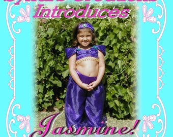 Custom Handmade Princess Jasmine Costume from the movie Alladin- size 4/5