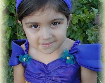 Custom Handmade Princess Jasmine Costume from the movie Alladin- size 3/4