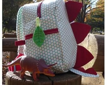 Dinosaur Back Pack PDF Sewing Pattern | dinosaur bag, kids backpack, kids dinosaur bag, kids bag sewing pattern, back pack pattern, dino