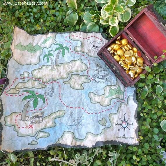 Cloth Treasure Map