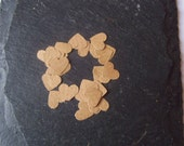 Set of 1000 brown kraft paper mini hand punched die cut hearts for scrapbooking, cardmaking...