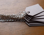 Set of kraft brown price tags hang tags with bakers twine