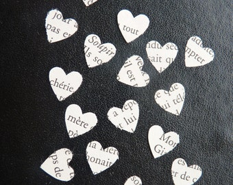 Coeur d'amour French love story heart confetti