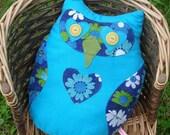 Blue Owl Cushion