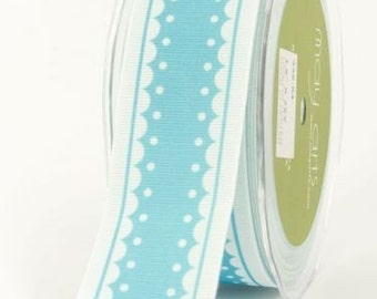 CLEARANCE - May Arts Grosgrain Polyester Ribbon Blue