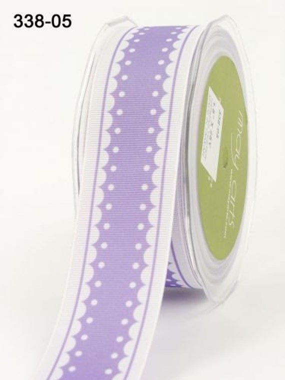 CLEARANCE - May Arts Grosgrain Polyester Ribbon Purple