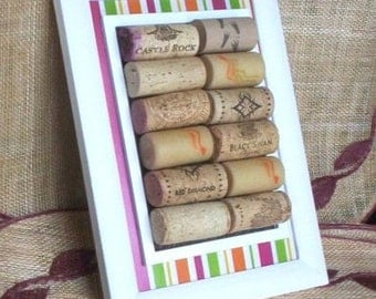Spring home Decor Cork Board Wine lover Gifts Colorful  Decor WINE CORKS wall hanging kitchen counter bars housewarming party gift