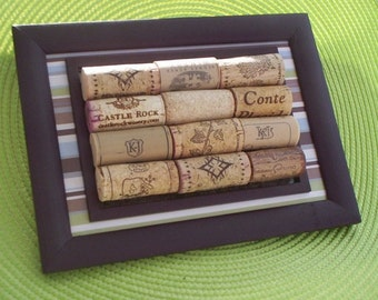 Wine Enthusiast Hostess Gift Home Bar Decor Wine Cork wall hanging Handmade reused recycled corks Fathers Day housewarming hostess gifts