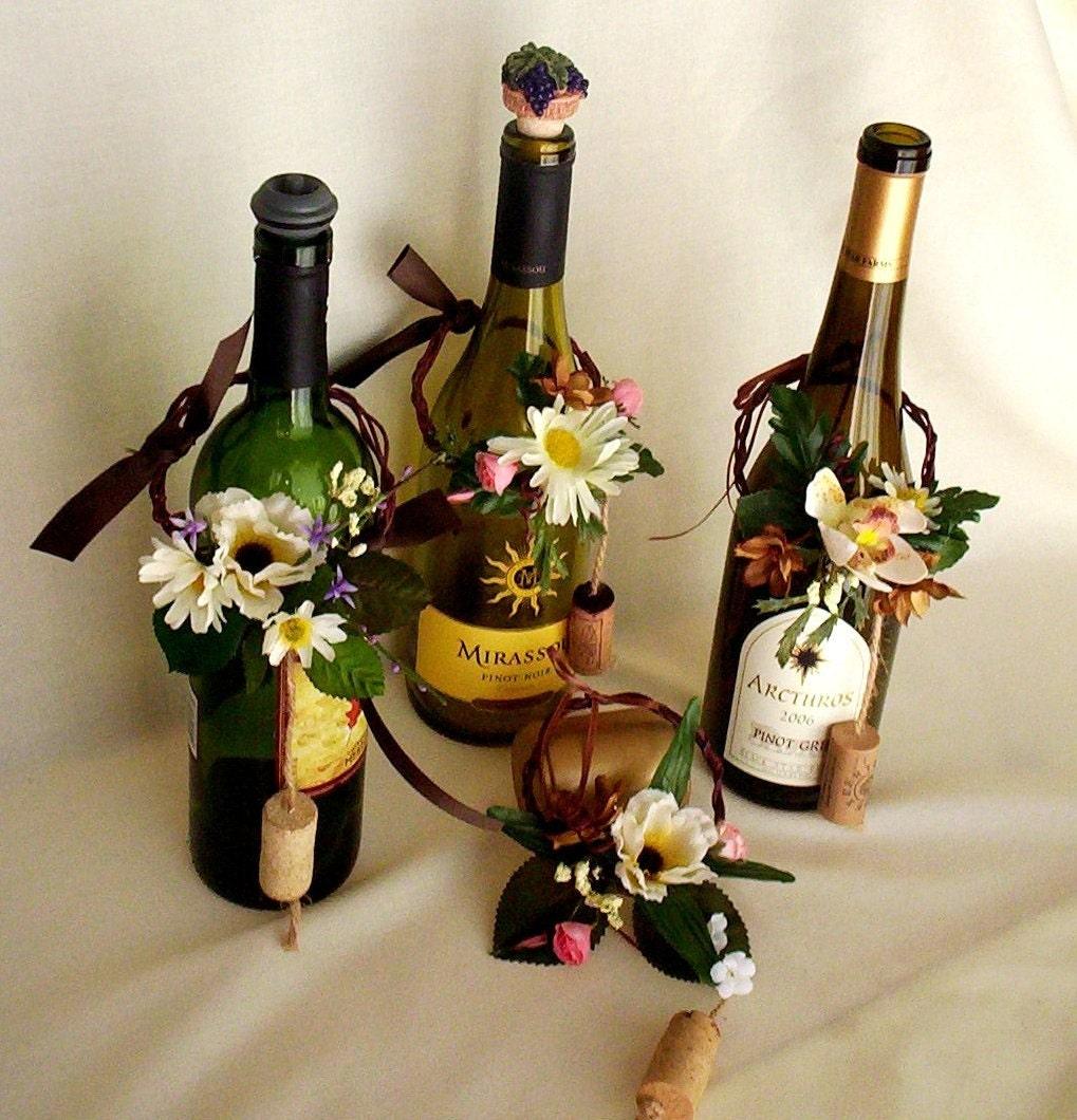 Украсить бутылку с вином своими руками 483