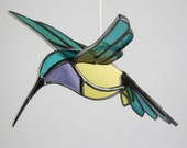 3D Hummingbird Stained Glass Bird Suncatcher- NEW Color