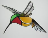 3D Hummingbird Suncatcher Stained Glass Bird