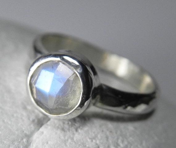 moonstone ring rainbow moonstone ring stacking ring