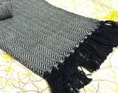 Custom handwoven Herringbone scarf-you pick the colorway