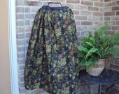 Long Skirt  Victorian, Prairie Southern  A garden of roses and pansies in green golds and browns christmas pagents  Dickens festivals