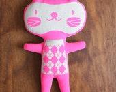 NEON PINK Cat Doll - Ari