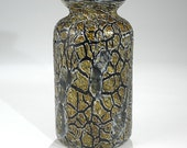 Hand Blown Crackle Glass Vase - Free shipping