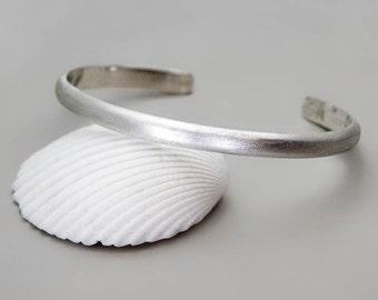 Sterling Silver Cuff Bracelet, Silver Men Cuff, Engraved Bracelet, Thin Silver Cuff, Minimal Bracelet, Womens Cuff Bracelet, Open Bangle Men