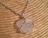 Island Valentine - Sea Glass Heart Necklace
