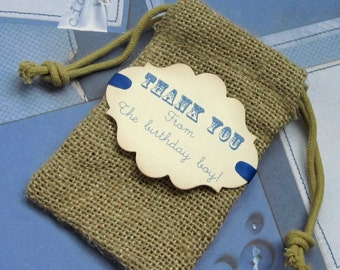 Burlap favor bags - Birthday - Party - Thank you - Set of 10
