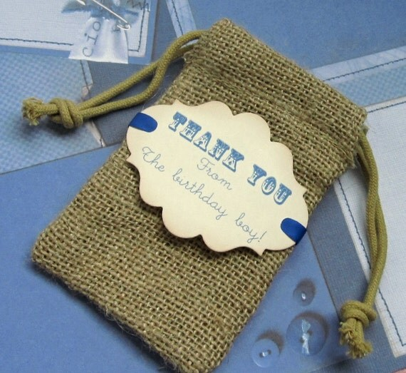 how to write on burlap bags