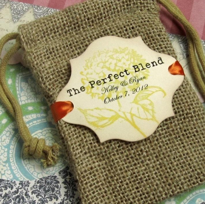 Burlap Wedding Favor Bags Personalized The Perfect Blend