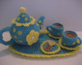 Tea Set Crochet Pattern Instant Download