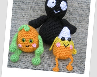 Ghost Pumpkin Candy Corn Crochet Pattern
